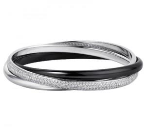 Bracelet Trinity Céramique Noire et Diamants - Cartier Joaillerie