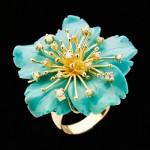 Bague Camelia Turquoise - Perlota Bijoux