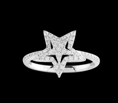 Bague Étoile Diamants en Promotion chez Diamant-Unique