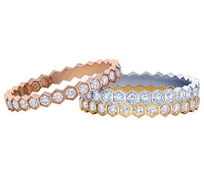 Bagues Alliances Bee My Love Pavées Diamants par Chaumet