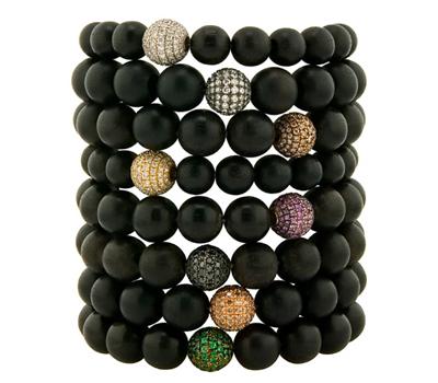 Bracelets Ebène et Diamants - Noor Fares Bijoux