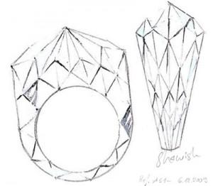 Bague Taillée en Diamant - Shawish Jewelry
