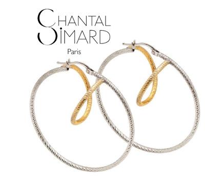 Boucles d'Oreilles Circonvolution - Chantal Simard