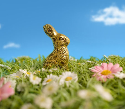 Lapin Oeuf de Pâques doré à l'Or 24 carats - Delafée