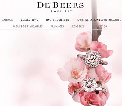 Site Web De Beers Joaillerie Version Française
