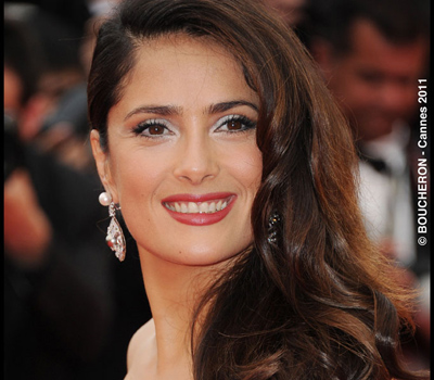 Salma-Hayek en Bijoux Boucheron au Festival de Cannes