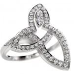 Bague Lily Cluster Platine et Diamants - Harry Winston