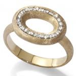 Bague Or Brossé Olga - Bijou Nanis Jewelry