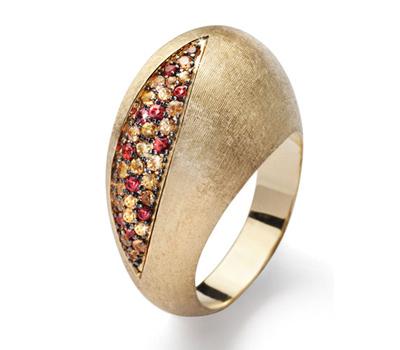 Bague Pomegranate Brossée - Bijou Nanis Jewelry