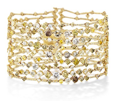 Bracelet Or Jaune et Diamants Arpeggia - De Beers Joaillerie