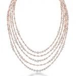 Collier Or Rose et Diamants Arpeggia - De Beers Joaillerie