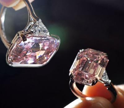 Un Diamant Rose sur Bague aux Enchères Sotheby's - 10,8 M$