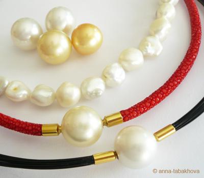 Les perles blanches et perles gold des Mers du Sud