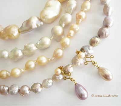 Perles baroques et poires de Chine