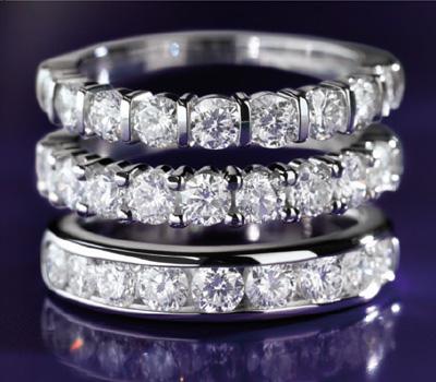 Alliances en diamants de Maty
