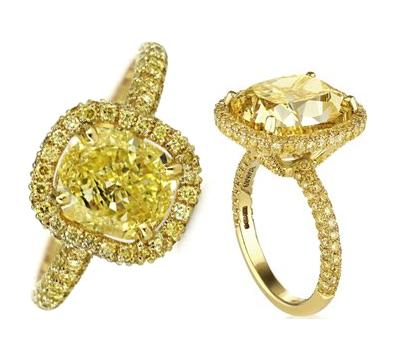Bague Aura Full Diamants Jaunes - De Beers