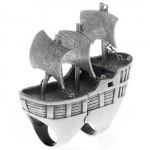 Bague Bateau de Pirates par nOir Jewelry