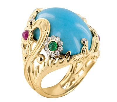 Bague Cabochon Turquoise Suamèm par Chantecler
