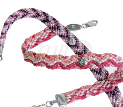 Bracelet Brésilien Redline - Diamant Serti Sur Fils
