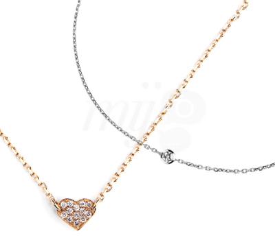 Collier Enfant Coeur et Mon Premier Diamant by Redline