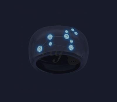 Diamants Fluorescents sur les Bijoux Constellation Ocarat