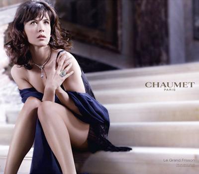 Sophie Marceau pour les Bijoux et Montres Chaumet