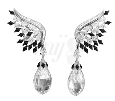 Boucles d'Oreilles Heavenscraper - Bal Black & White