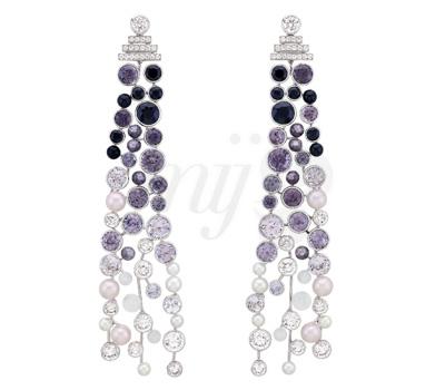 Boucles d'Oreilles Perle de Rosée - Chanel Contrastes