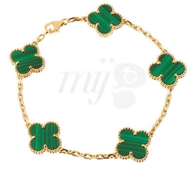 Bracelet Alhambra Vert et Or par Van Cleef & Arpels
