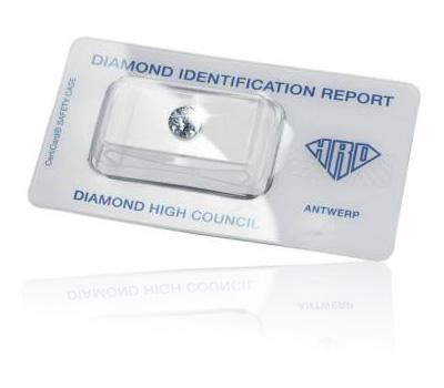 Certificat d'authenticité d'un diamant du HRD