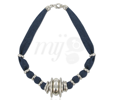 Collier 100% Denim par Eliot Bijoux