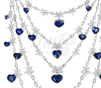 Collier Saphirs Coeurs par Chopard