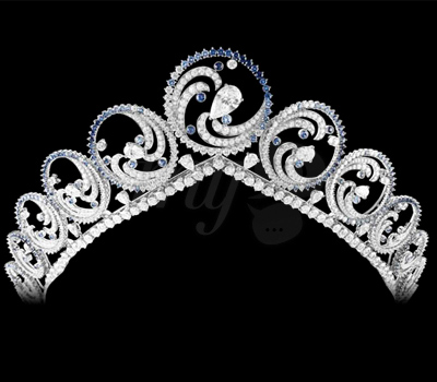 Diadème Ocean pour la Princesse Charlène
