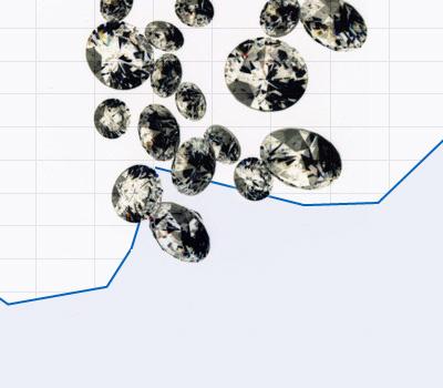 Cours du diamant taillé