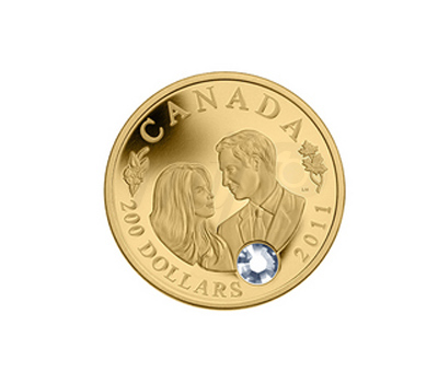 Pièce en Or - William et Kate au Canada