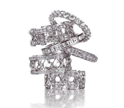 Alliances or blanc et diamants de Tiffany