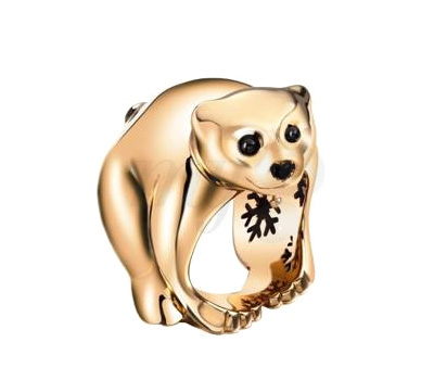 Bague Ourson Or Rose Chopard