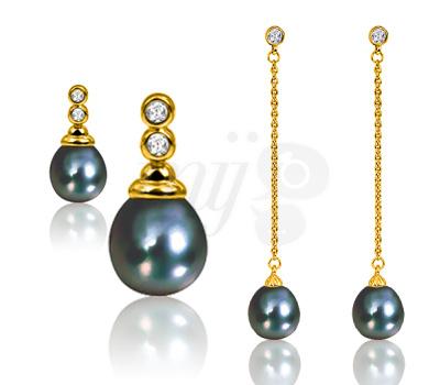 Boucles d'oreilles Perles de Tahiti - Ocarat.com