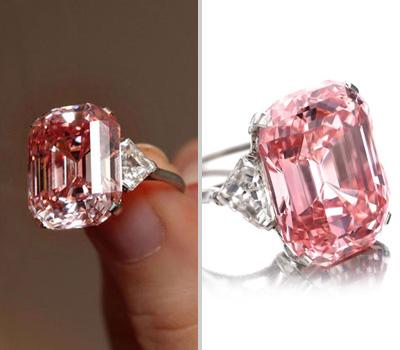 Diamant Rose, pierre précieuse sur bague