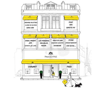 Illustration de la Façade de l'Écrin Bijoux Franck & Fils