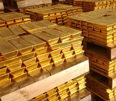 Or fin en lingots d'or 24 carats