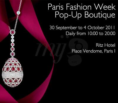 Pop-up Boutique Fabergé à Paris