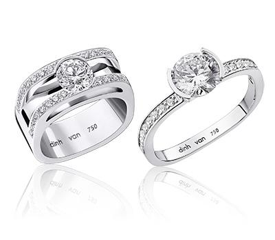Solitaire Diamant et Or Blanc - Dinh Van