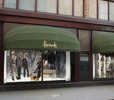 Vitrines Harrods à Londres