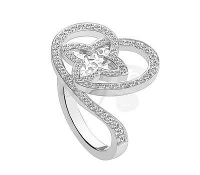 Bague Coeur Or Blanc et Diamants - Louis Vuitton