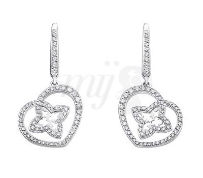 Boucles d'Oreilles Coeur Or Blanc et Diamants - Louis Vuitton