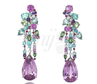 Boucles d'Oreilles Multicolores Chopard's Temptations