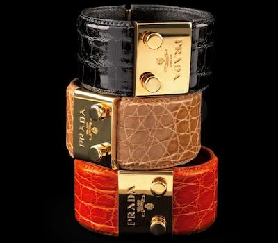 Bracelets Croco - Prada Joaillerie