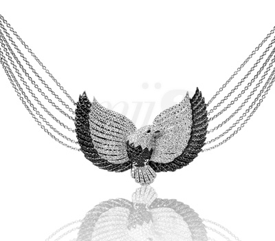 Collier Aigle d'Or - Élise Dray