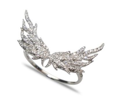 Bague ailes en diamants de Henri J. Sillam
